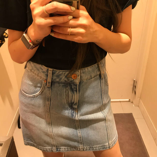 イザベルマラン(Isabel Marant)のISABEL MARANT denim mini skirt.(ミニスカート)