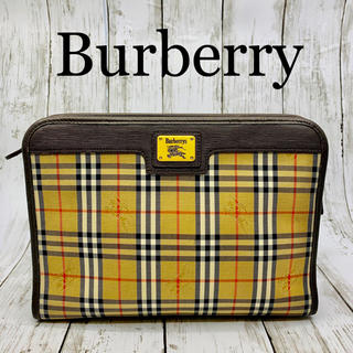 バーバリー(BURBERRY)の極美品 OLD Burberry クラッチバッグ (クラッチバッグ)