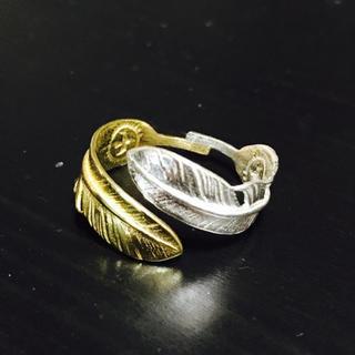silver925 ダブル フェザーリング / ゴローズ 三代目 好きにオススメ(リング(指輪))