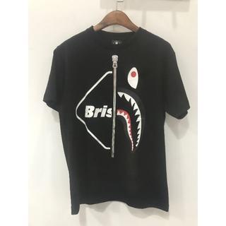 アベイシングエイプ(A BATHING APE)のBAPE X FCRB TシャツFCRBAPE 黒S(Tシャツ/カットソー(半袖/袖なし))