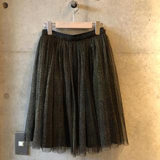 ルシェルブルー(LE CIEL BLEU)のルシェルブルー ラメ入りチュールスカート(ひざ丈スカート)