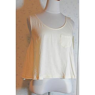 イエナスローブ(IENA SLOBE)のTシャツ ノースリーブ 白(Tシャツ(半袖/袖なし))