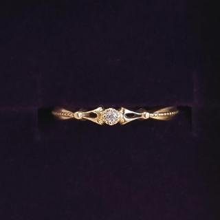 アガット(agete)のむんむん様専用  アガット agete ピンキーリング 指輪 2号 ダイヤ(リング(指輪))