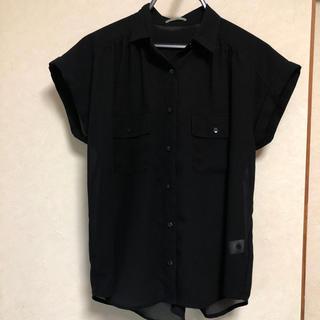 ジーユー(GU)のGU シースルーブラウス(シャツ/ブラウス(半袖/袖なし))
