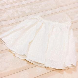 シマムラ(しまむら)の花柄レース風スカート オフホワイト(ひざ丈スカート)