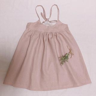 110サイズ✳︎リネンワンピース✳︎ハンドメイド✳︎子供服(ワンピース)