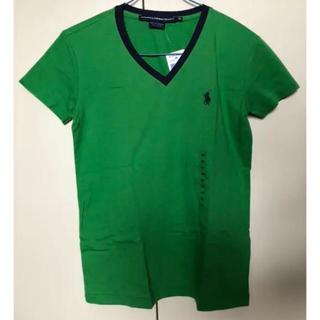 ポロラルフローレン(POLO RALPH LAUREN)の新品♡ラルフローレン  Vネック  グリーン  Tシャツ♡ XS(Tシャツ(半袖/袖なし))