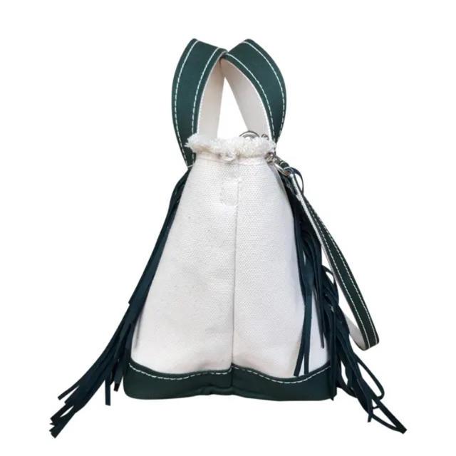 Drawer(ドゥロワー)の本日限定価格 新品  ayako バッグ フリンジ GREEN S レディースのバッグ(ショルダーバッグ)の商品写真