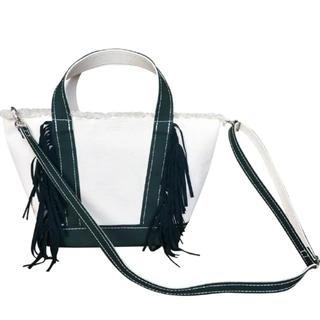 ドゥロワー(Drawer)の本日限定価格 新品  ayako バッグ フリンジ GREEN S(ショルダーバッグ)