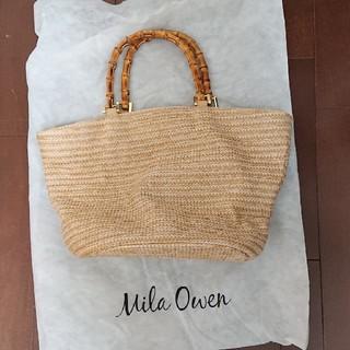ミラオーウェン(Mila Owen)の専用 ミラオーウェンMila Owen 夏かごバッグ 美品 袋つき(かごバッグ/ストローバッグ)