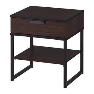 イケア(IKEA)のTRYSIL  ベッドサイドテーブル ダークブラウン/ブラック(コーヒーテーブル/サイドテーブル)