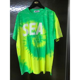 グランドキャニオン(GRAND CANYON)のwindandsea  ロゴTシャツ ライム(Tシャツ/カットソー(半袖/袖なし))
