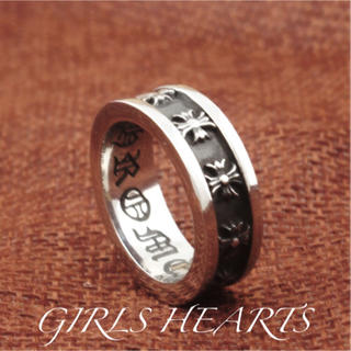 送料無料25号クロムシルバーサージカルステンレスクロス十字架スペーサーリング指輪(リング(指輪))