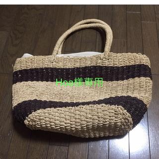 ムジルシリョウヒン(MUJI (無印良品))のHoa様専用☆無印良品大きめカゴバッグ(ハンドバッグ)