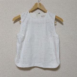 ギャップ(GAP)のGAP パンチ刺繍ノースリーブ(シャツ/ブラウス(半袖/袖なし))