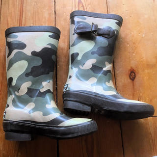 ハンター(HUNTER)のLLBean キッズ レインブーツ 長靴 迷彩柄 11(長靴/レインシューズ)