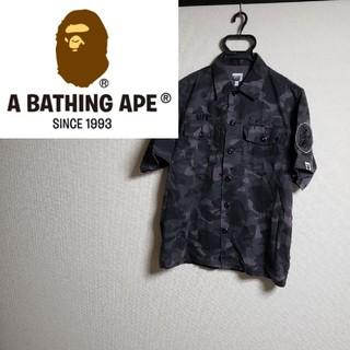 A BATHING APE - アベイシングエイプ カモフラ ワークシャツ ワッペン 迷彩