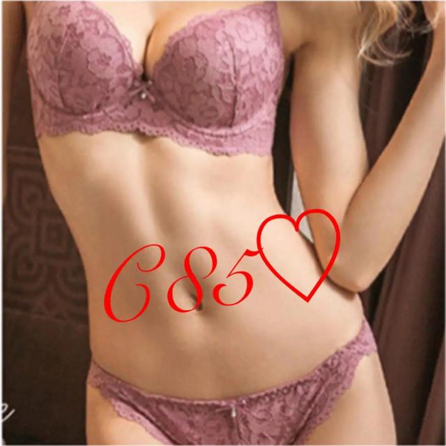 セクシーなピンクの下着 C85♡ 一点のみ! レディースの下着/アンダーウェア(ブラ&ショーツセット)の商品写真