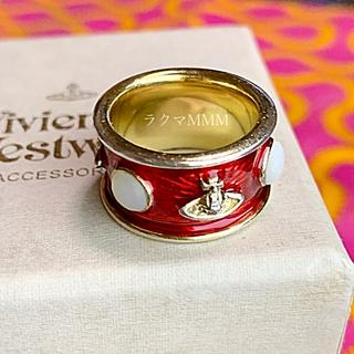 ヴィヴィアンウエストウッド(Vivienne Westwood)の初期旧型 キングリング/S/レッド×ゴールド(リング(指輪))
