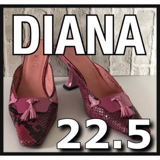ダイアナ(DIANA)のDIANA ダイアナ ヒール サンダル ピンク スネーク柄 22.5cm(サンダル)