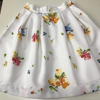 マーキュリーデュオ(MERCURYDUO)のマーキュリーデュオ*花柄スカート(ミニスカート)