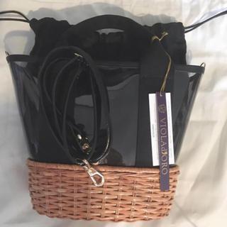 デミルクスビームス(Demi-Luxe BEAMS)の完売 ヴィオラドーロ 2way PVC x ラタンショルダー ハンドバッグ(ショルダーバッグ)