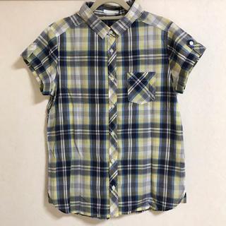 ジーユー(GU)のGU レディース 半袖チェックシャツ(シャツ/ブラウス(半袖/袖なし))
