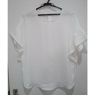 ジーユー(GU)の新品★GUフレアスリーブブラウス・XL(シャツ/ブラウス(半袖/袖なし))
