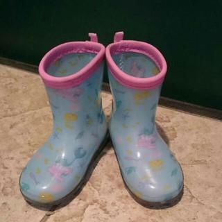 ディズニー(Disney)の新品同ディズニーリトルマーメイドアリエル長靴レインブーツ14センチDisney(長靴/レインシューズ)