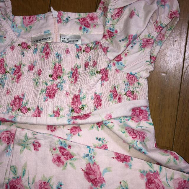 LAURA ASHLEY(ローラアシュレイ)のローラアシュレイのスモッキングワンピース4T キッズ/ベビー/マタニティのキッズ服 女の子用(90cm~)(ワンピース)の商品写真