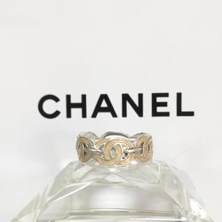 シャネル(CHANEL)の正規品 シャネル 指輪 シルバー ココマーク ベージュ 銀 エタニティ リング (リング(指輪))