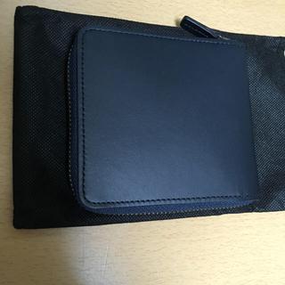 ムジルシリョウヒン(MUJI (無印良品))の無印良品 イタリア産ヌメ革ラウンドファスナー二つ折り財布 ネイビー 未使用品 (折り財布)