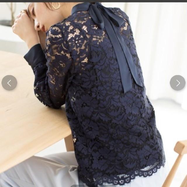 ANAYI(アナイ)のamane様専用 アナイ フルレース バックリボン レディースのトップス(シャツ/ブラウス(長袖/七分))の商品写真