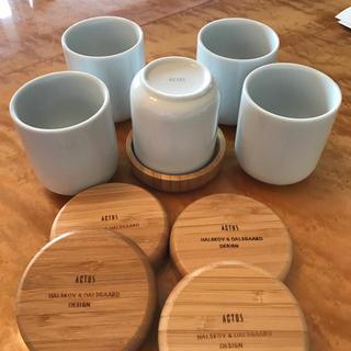 アクタス(ACTUS)の未使用 アクタス お茶 茶托 5客セット コンラン好きか方にも(食器)