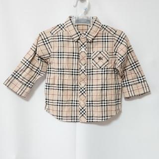 BURBERRY - バーバリー ロンドン チェック柄 シャツ 80