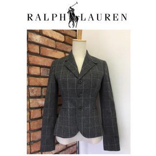 ラルフローレン(Ralph Lauren)の美品☆RALPH LAUREN/ラルフローレン☆ジャケット☆7号☆グレー系(テーラードジャケット)