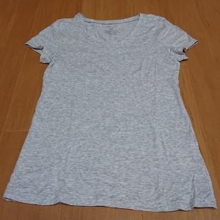 ジーユー(GU)のGU ベーシックVネックTシャツ グレー(Tシャツ(半袖/袖なし))