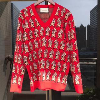 グッチ(Gucci)の19SS【GUCCI】ピグインターシャ Vネック ウール セーター(ニット/セーター)