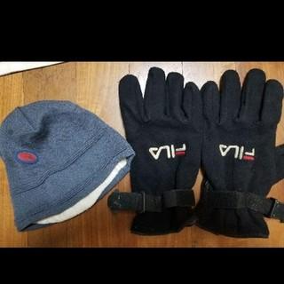 バートン(BURTON)のFILA 手袋 + バートン ニット帽(ウエア/装備)