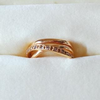 18kピンクゴールド ダイアモンド  リング(リング(指輪))