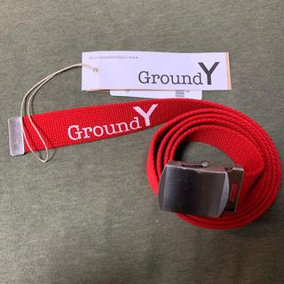 ヨウジヤマモト(Yohji Yamamoto)のGround Y ガチャベルト 赤色 タグ付き グラウンドワイ(ベルト)