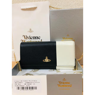 ヴィヴィアンウエストウッド(Vivienne Westwood)の新品未使用 正規品 ビビアンウエストウッド 長財布 チェーン取外し可 白 黒 (財布)