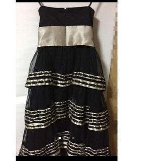 ビーシービージーマックスアズリア(BCBGMAXAZRIA)のBCBG ワンピース ドレス 黒 ゴールド(ミニワンピース)