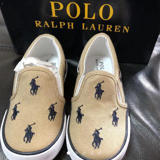 POLO RALPH LAUREN - 新品 ラルフローレン スリッポン 靴 スニーカー ロゴロゴ 13.0cm