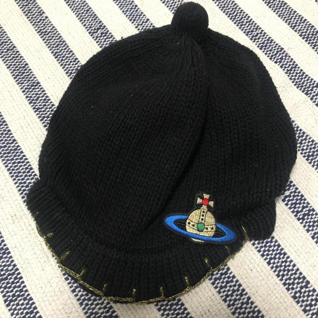 Vivienne Westwood(ヴィヴィアンウエストウッド)のヴィヴィアン ニット帽 レディースの帽子(ニット帽/ビーニー)の商品写真