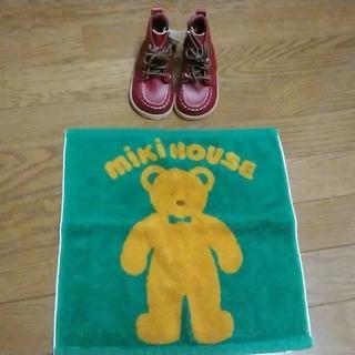 ミキハウス(mikihouse)のミキハウス 子供 革靴 タグ付き(ブーツ)