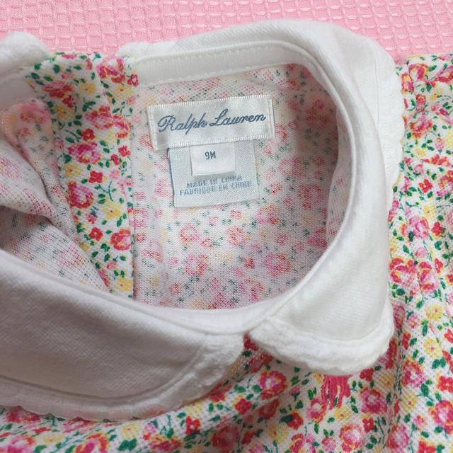Ralph Lauren(ラルフローレン)のラルフローレン ロンパース 花柄 女の子 美品‼️ キッズ/ベビー/マタニティのベビー服(~85cm)(カバーオール)の商品写真