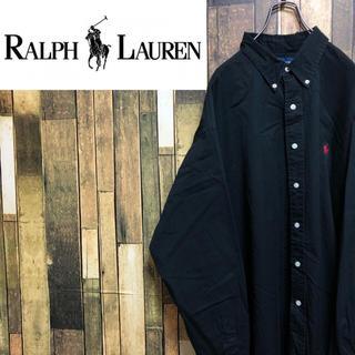 ラルフローレン(Ralph Lauren)の【激レア】ラルフローレン☆ワンポイント刺繍ロゴチノスーパービッグシャツ 90s(シャツ)