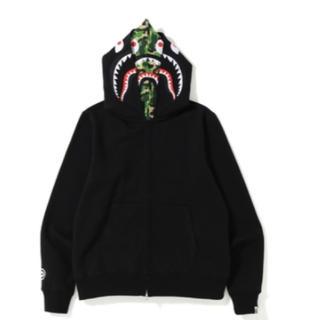 アベイシングエイプ(A BATHING APE)のbape abc shark full zip double hoodie M(パーカー)