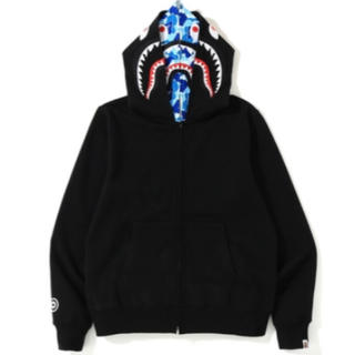 A BATHING APE - bape abc shark full zip double hoodie L